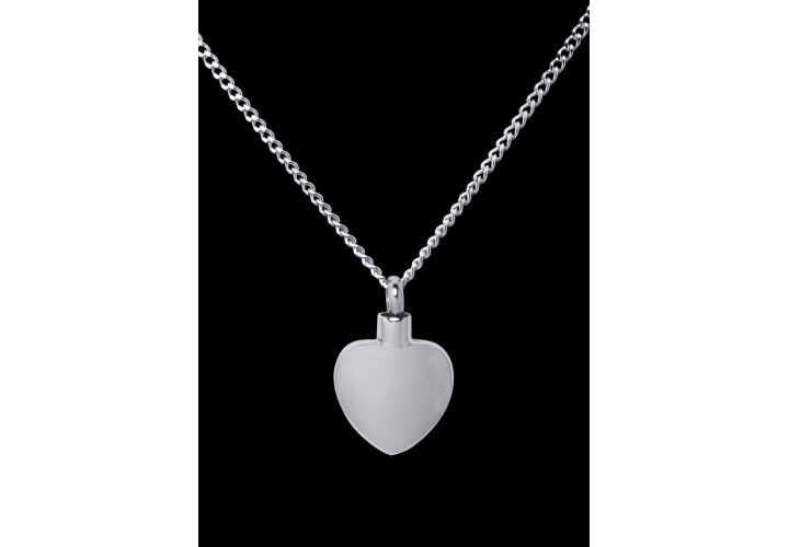 Stainless Steel Plain Heart Cremation Pendant #36-609